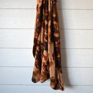 H&M Vintage Floral Knit Infinity Scarf